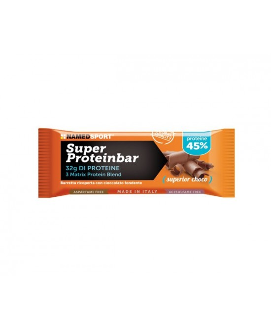NAMEDSPORT SUPER PROTEINBAR SUPERIOR CHOCO BARRETTA 70G - Farmawing