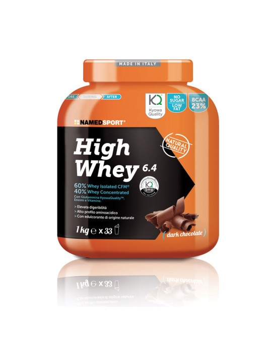 NAMEDSPORT HIGH WHEY DARK CHOCOLATE PROTEINE 1KG - Farmawing