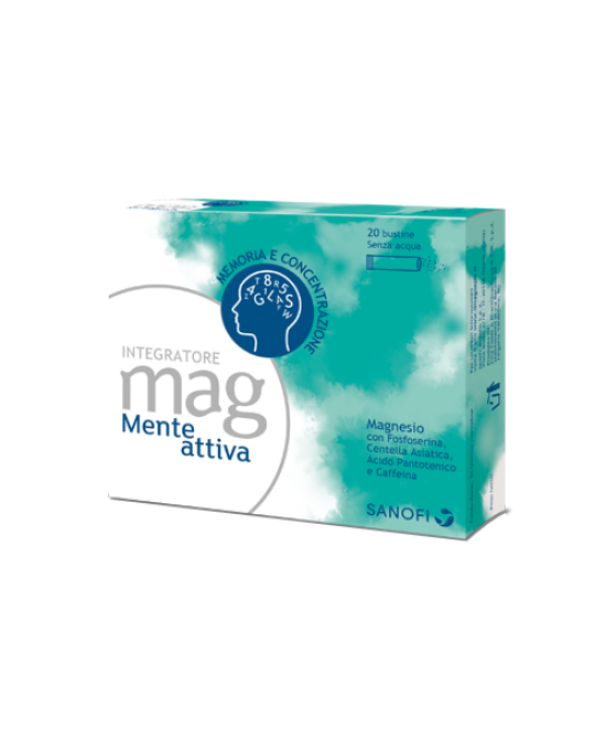 Mag Mente Attiva Integratore Alimentare 20 Bustine Orosolubili - Farmafamily.it