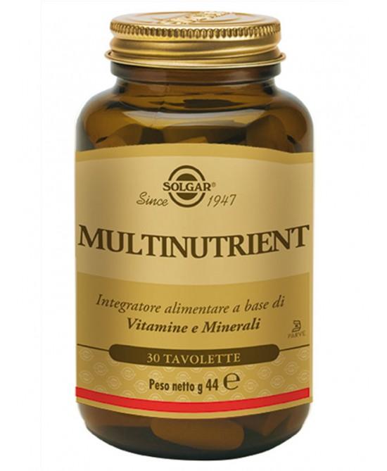 Solgar Multinutrient 30 Tavolette - latuafarmaciaonline.it