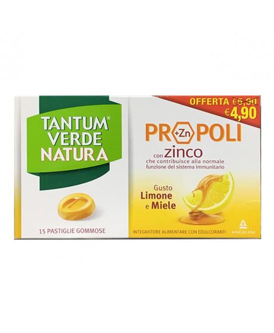 Tantum Verde Natura Pastiglie Gommose Limone & Miele 20 Compresse - Antica Farmacia Del Lago