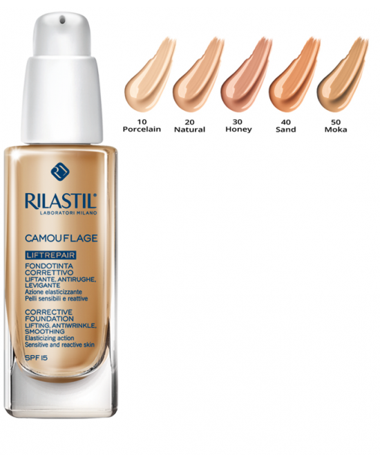 Rilastil Cosmetic Camouflage Fondotinta Liftrepair Colore 40 Sand 30ml - Farmafamily.it