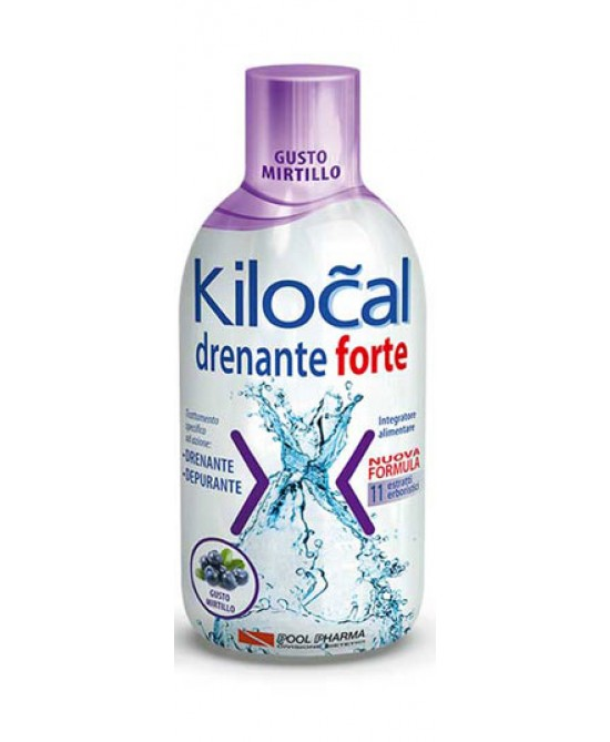 Kilocal Drenante Forte Gusto Mirtillo Integratore Alimentare 500ml - Farmaci.me