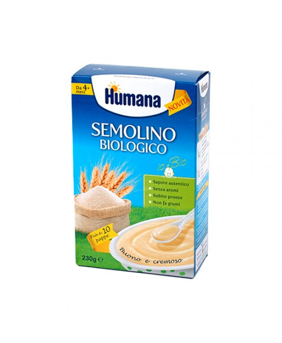 Humana Semolino Biologico Per Lo Svezzamento 230g - Farmafamily.it