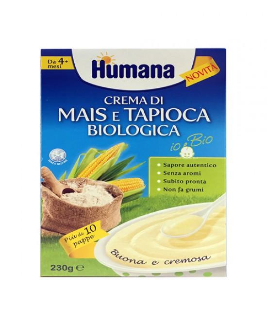 Humana Crema Di Mais E Tapioca Pappa Per Lo Svezzamento Biologica Da 4+ Mesi 230g - Zfarmacia