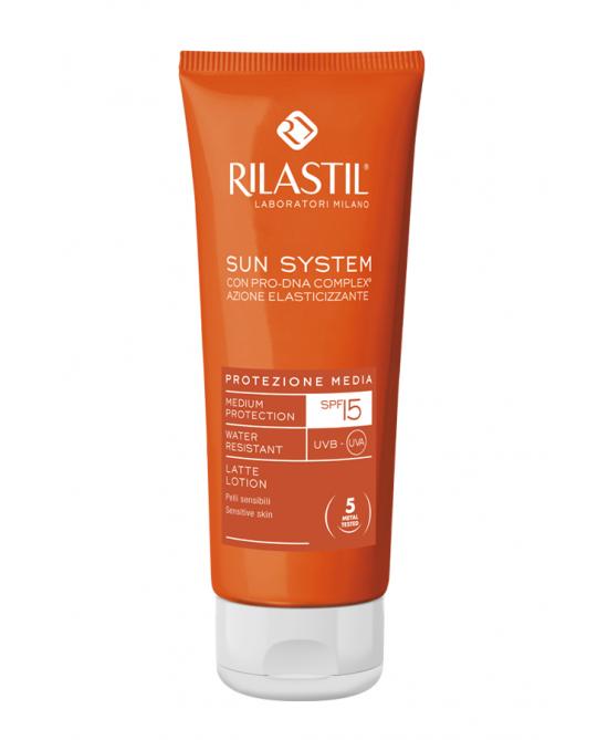 Rilastil Sun System Latte Solare SPF 15 Protezione Corpo 100 ml