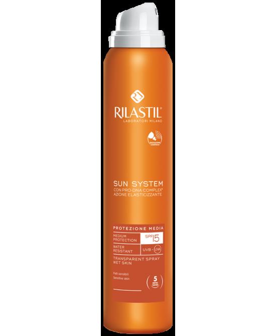 Rilastil Sun System Spray Trasparente SPF 15 200 ml - Zfarmacia