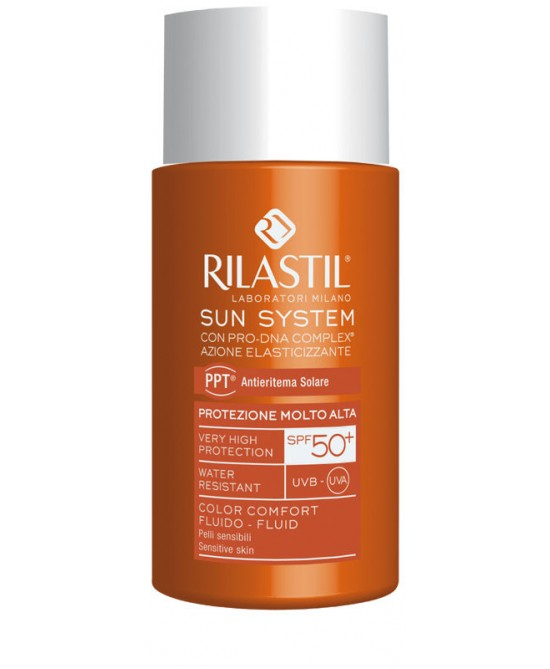 Rilastil Sun System PPT Fluido Color Comfort SPF50+ da 50ml - latuafarmaciaonline.it