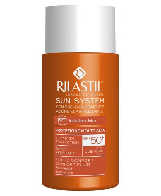 Rilastil Sun System Fluido Comfort Solare SPF 50+ Protezione Viso 50 ml