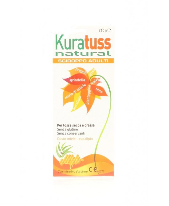 Kuratuss Natural Sciroppo Adulti 210g - La farmacia digitale