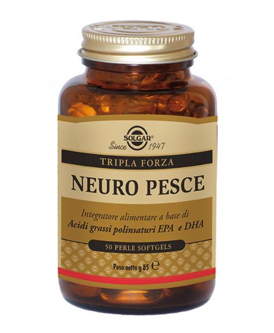 Solgar Neuro Pesce Integratore Alimentare 50 Perle Softgels - Spacefarma.it