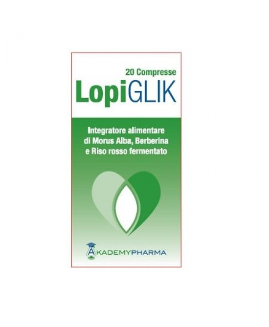 Akademy Pharma Lopiglik Integratore Alimentare 20 Compresse - Sempredisponibile.it