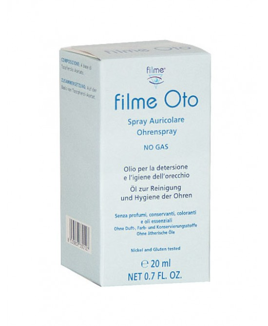OLIO SPRAY AURICOLARE FILME OTO 20 ML - farmaciafalquigolfoparadiso.it