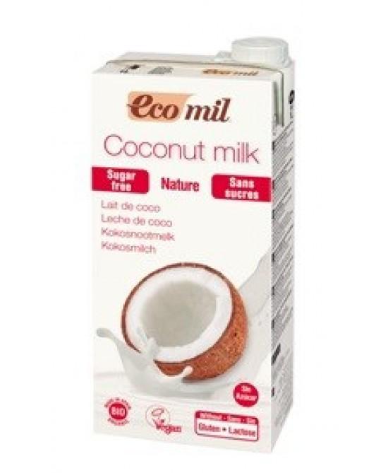 Ecomil Latte Di Cocco Bio Senza Zucchero 1 litro - farma-store.it