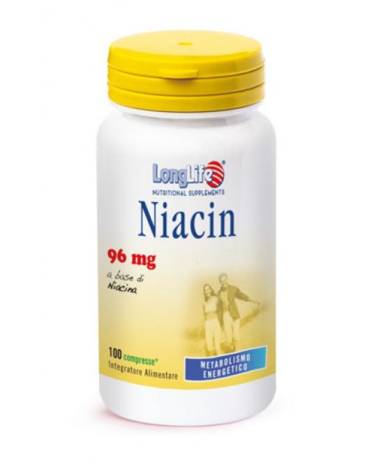 LongLife Niacin 96mg 100 Compresse