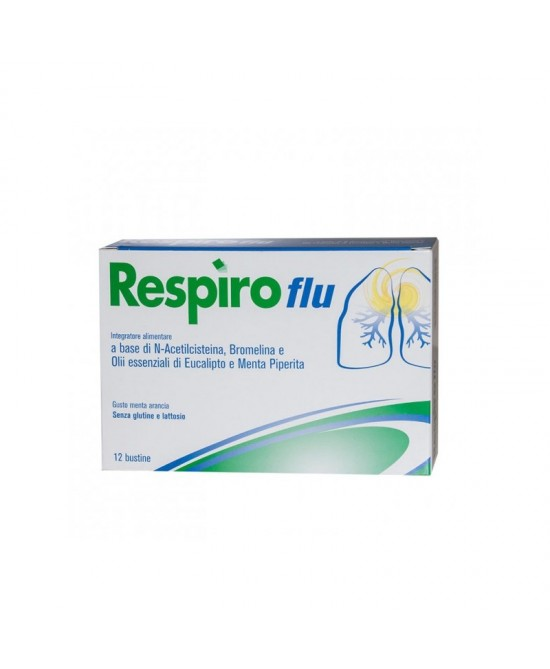 Respiro Flu Integratore Alimentare 12Bustine - Spacefarma.it