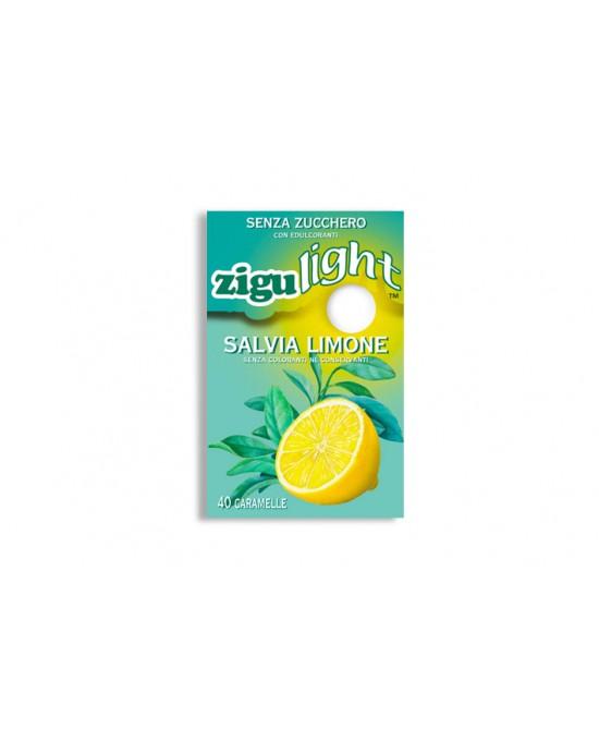 Zigulì Zigulight Salvia Limone Caramelle Senza Zucchero 40 Pezzi - Zfarmacia