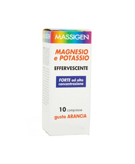 MASSIGEN MAGNESIO E POTASSIO EFFERVESCENTE PLUS 10 COMPRESSE - Farmacia 33