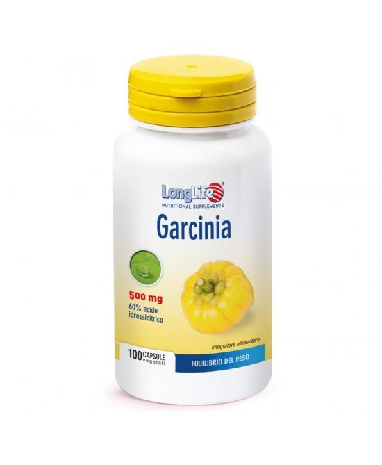Longlife Garcina 60% 500mg Integratore Alimentare 100 Capsule - Zfarmacia