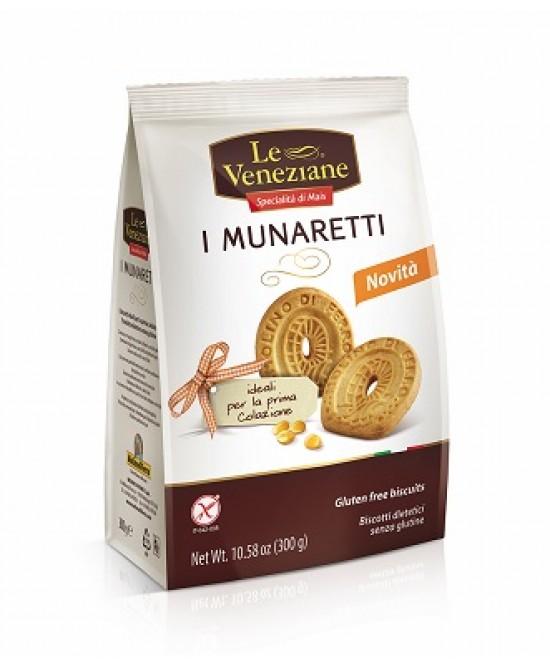 Le Veneziane Munaretti Biscotti Classici Senza Glutine 300 g