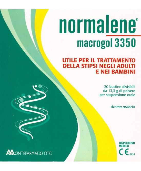 Normalene Macrogol 3350 Integratore Contro Stipsi 20 Bustine