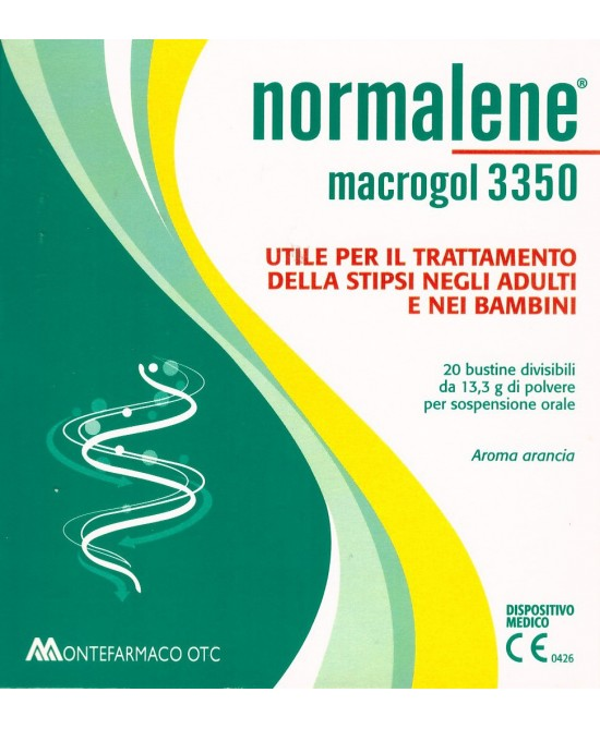 NORMALENE MACROGOL 3350 20 BUSTINE DA 13,3 G - Farmacia33