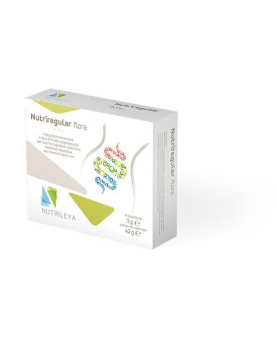 Nutrileya Nutriregular Flora Integratore Alimentare 14 Bustine