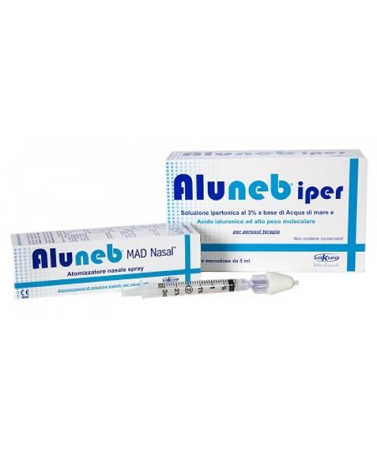 Aluneb Iper 20 Flaconi + MAD Nasal Atomizzatore Nasale Spray 3ml - Farmafamily.it