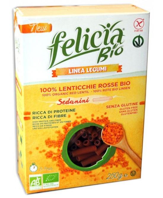 Felicia Bio Pasta Sedanini Alle Lenticchie Rosse Senza Glutine 250g - farma-store.it