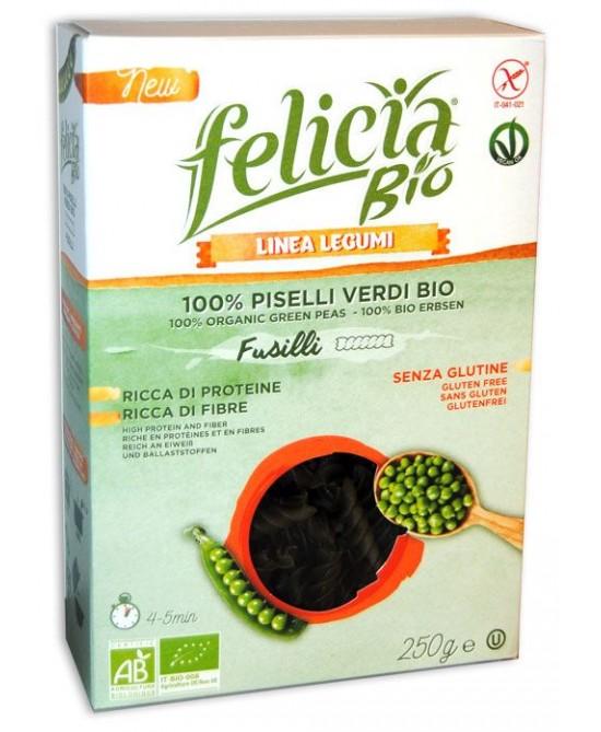Felicia Bio Fusilli Con Piselli Verdi Senza Glutine 250g - FARMAPRIME