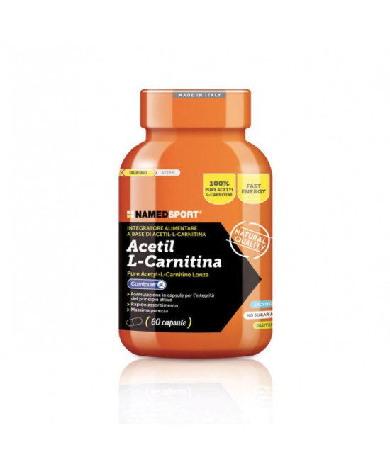 NamedSport Acetil L-Carnitina Integratore Alimentare 60 Compresse - FARMAPRIME