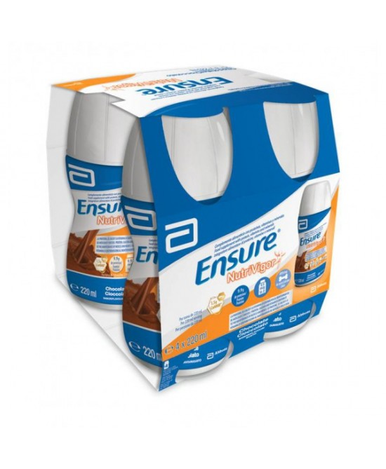 Ensure NutriVigor Cioccolato Integratore Alimentare 4x220ml -