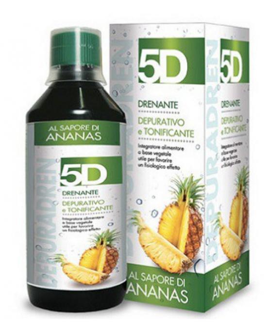 5D Drenanate Depurativo Tonificante Ananas Integratore Alimentare 500ml - Farmawing