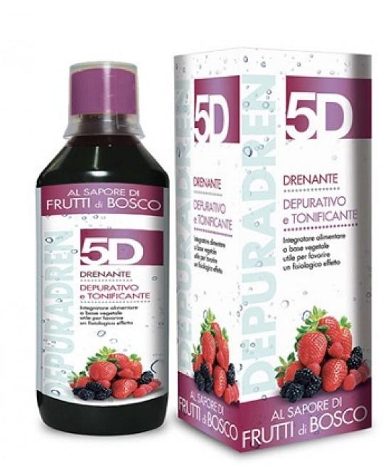 Benefit 5D Depuradren Sleeverato Gusto Frutti di Bosco 500ml