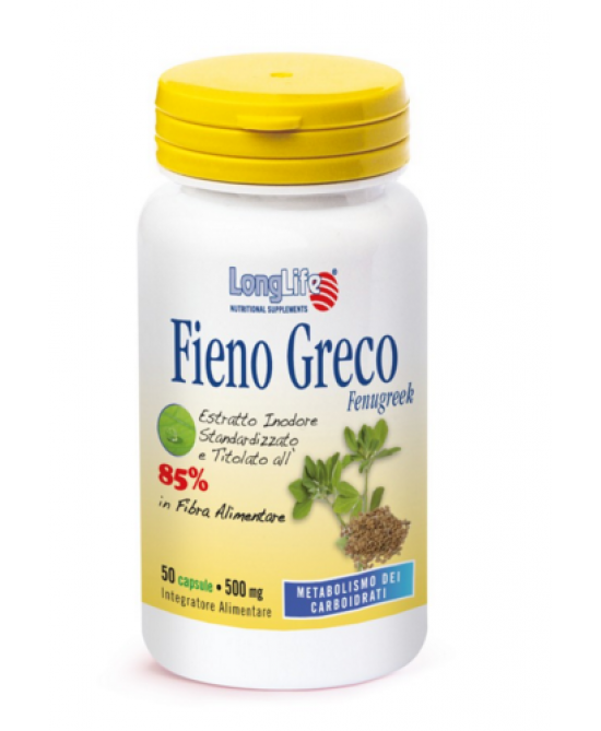Longlife Fieno Greco Integratore Alimentare 60 Capsule