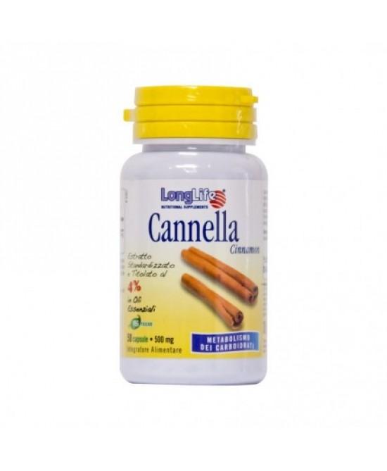 LongLife Cannella Integratore Intestinale 60 Capsule