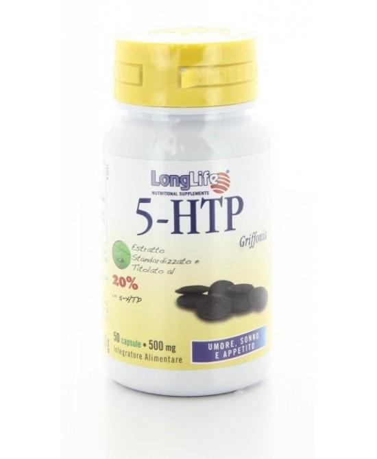 Longlife 5-HTP Integratore per Ansia e Stress 60 Capsule
