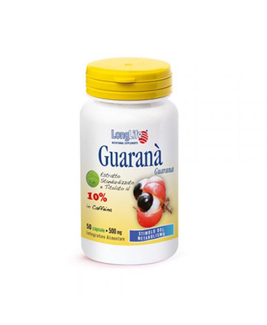 Longlife Guarana Integratore Alimetnare 60 Capsule Vegetali - Farmaciaempatica.it