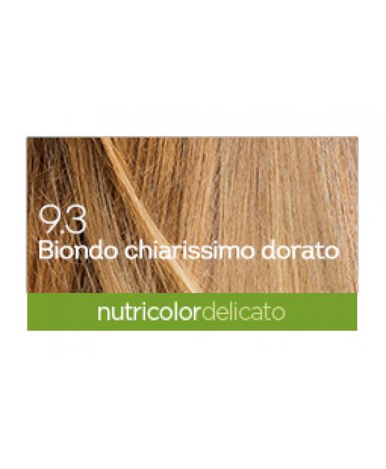 BIOKAP NUTRICOLOR DELICATO 9,3 NEW BIONDO CHIARISSIMO DORATO TINTA 140 ML - La farmacia digitale