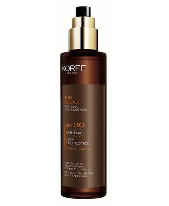 Korff Sun Secret Olio Secco Corpo E Capelli SPF 30 200ml - Farmabellezza.it