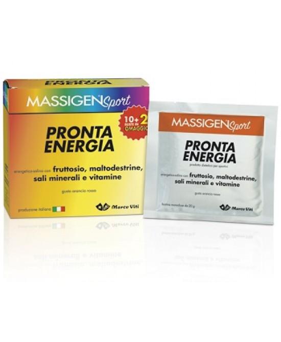 Massigen Sport Pronta Energia Integratore Alimentare 12Bustine - Farmafamily.it