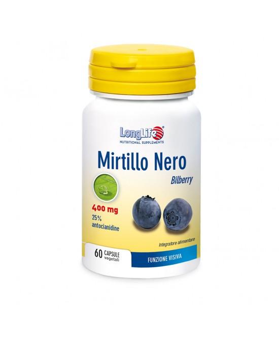 Longlife Mirtillo Nero Integratore Alimentare 60 Capsule - Sempredisponibile.it