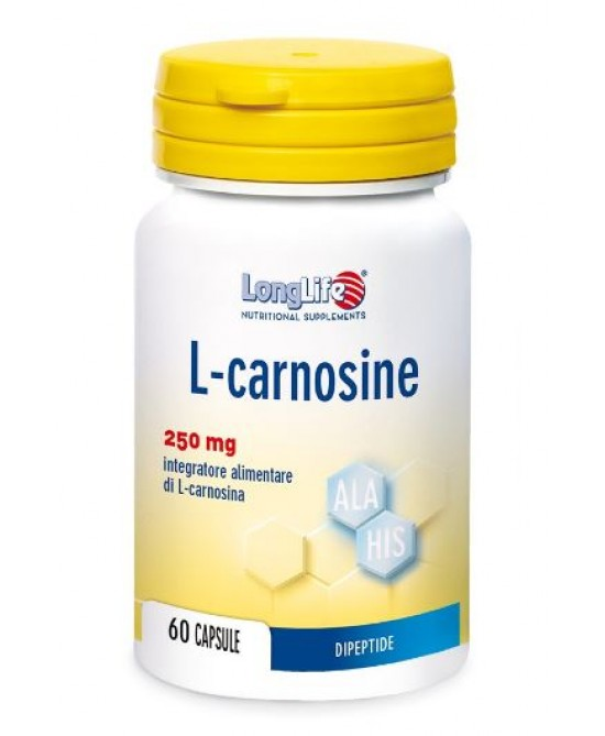 LongLife L-Carnosine Integratore 60 Capsule