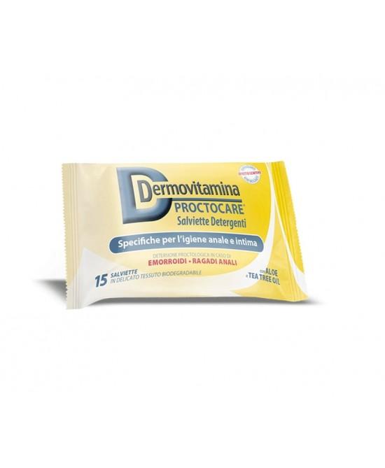 Dermovitamina Proctocare Salviette Detergenti Igiene Anale E Intima 15 Pezzi - Farmastar.it