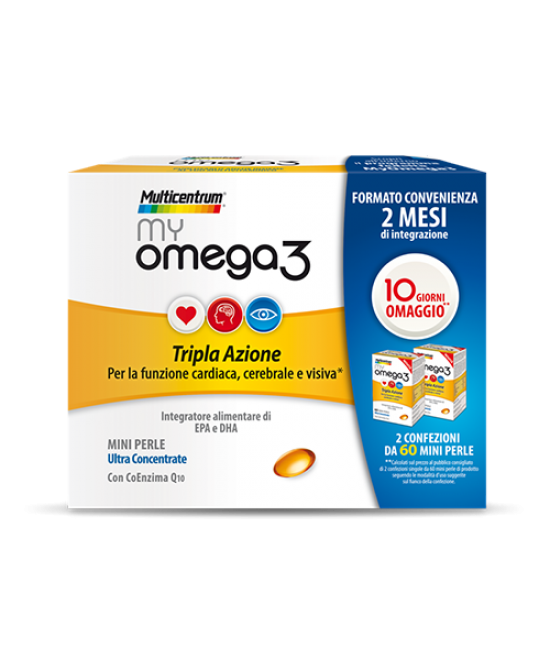 Multicentrum My Omega3 Integratore Alimentare 120 Perle - Farmastar.it
