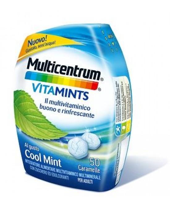 Multicentrum VitaMints Gusto Cool Mint 50 Caramelle - Farmacia Giotti