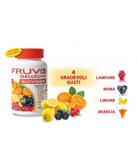 Fruvis Gelly Gommose Integratore Multivitaminico 60 Gelatine - Farmawing