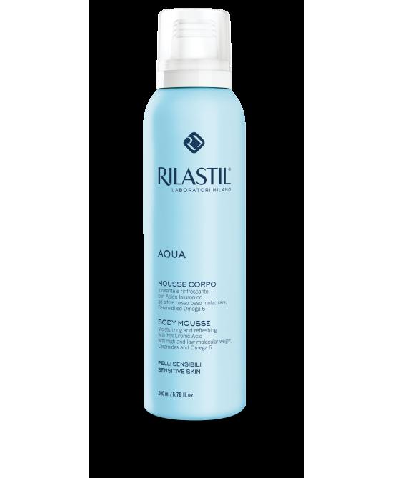 Rilastil Aqua Mousse Corpo Idratante Rinfrescante 200 ml