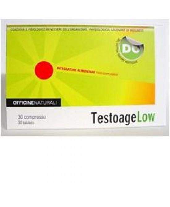 Testoage Low 30cpr 850mg - Zfarmacia