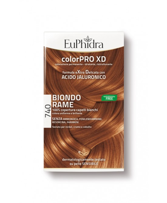 EuPhidra Colorpro XD Tintura Extra Delicata Colore 740 Biondo Rame - Farmaciaempatica.it